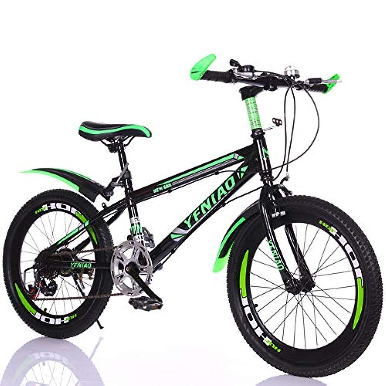 講堂ギターコロニアル学生用自転車、6?12歳の男の子用可変速自転車、男性および女性用20/22インチ、旅行学習および自転車、MTB,グリーン,22inches