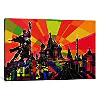 iCanvasART 1Piece MoscowサイケデリックPopキャンバスプリントby Dark Lord 40 x 60 x 1.5-Inch ICA662-1PC6-60x40