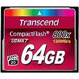 Transcend コンパクトフラッシュカード 64GB 800x 無期限保証 TS64GCF800
