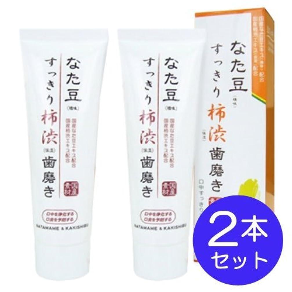 六月強大な高速道路なた豆すっきり柿渋歯磨き粉 (2個)
