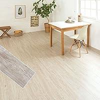 フロアタイル 貼るだけ フローリングタイル [36枚セット/No.4ペインテッドコテージオーク] 約3畳用分 木目調 接着剤付き DIY 床材 簡単 フロアーマット ブルックリン