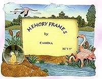 Decorative Flamingo Picture Frame wih mini water globe 6 x 8 [並行輸入品]