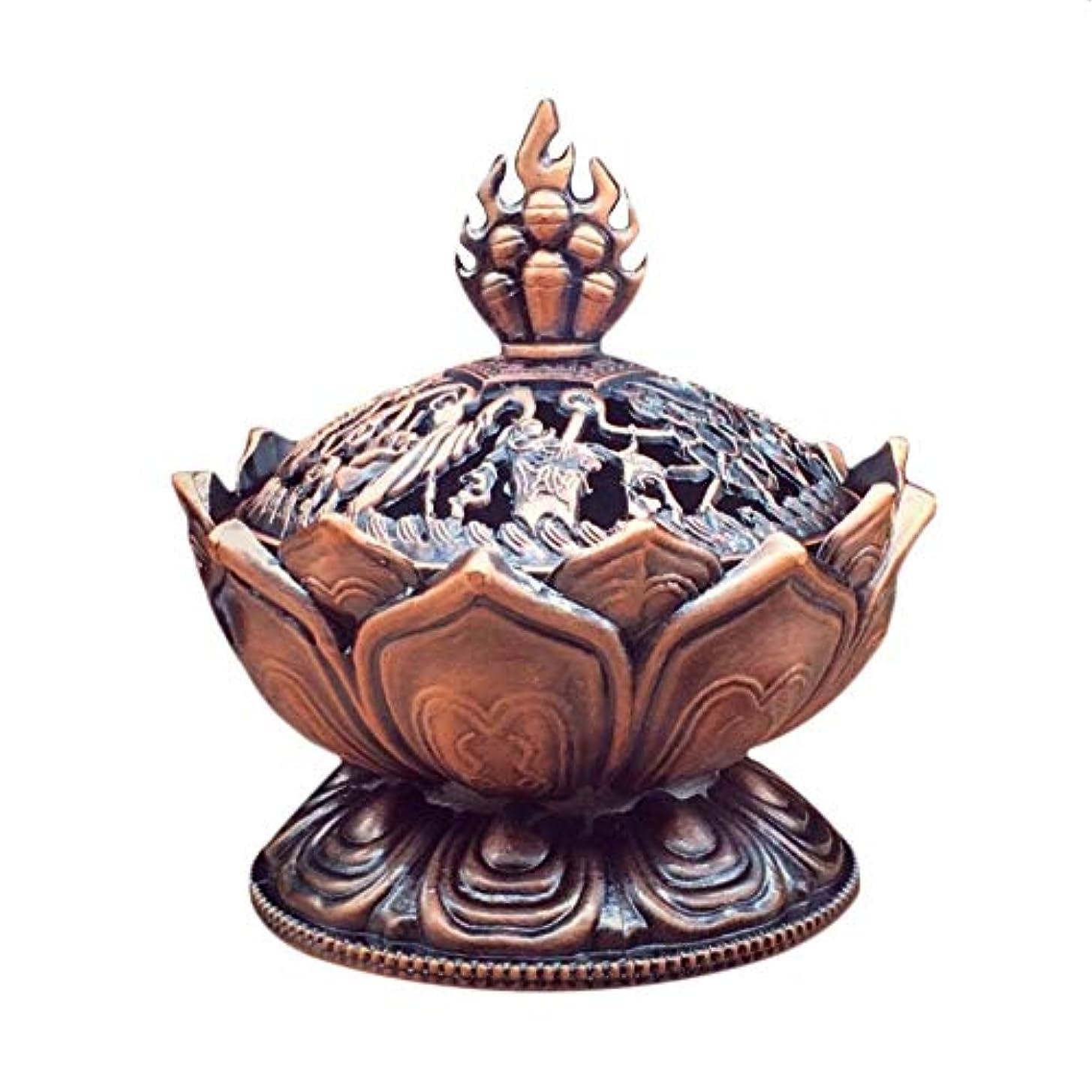 うねる小説子犬Bonni 聖チベットロータスデザイン香炉亜鉛合金ブロンズミニ香炉香炉金属工芸家の装飾