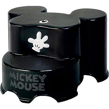 錦化成 ディズニー ミッキーマウス ステップ2段 ブラック
