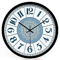 YAOJIAビニールレコード時計 壁時計非カチカチサイレントサイレント非カチカチ音質品質クォーツ壁時計 (Color : Black, Size : 14 Inch)
