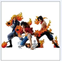 ワンピース フィギュア セットOne Piece Brotherhood Sabo Luffy Ace PVC Figures set 3pcs Attack styleing ver. [並行輸入品]