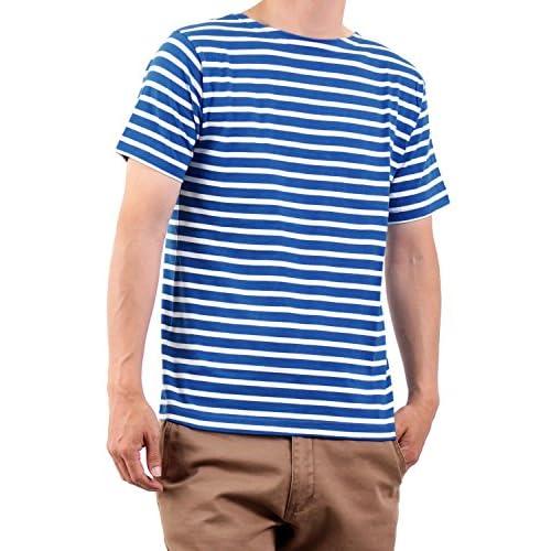(ラフタス)Rafftas ボートネック ボーダー Tシャツ ブルー × ホワイト 春 夏 秋 tee メンズ men's