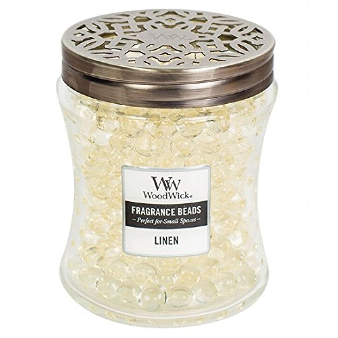 遺跡のり霜WoodWick(ウッドウィック) Wood Wickフレグランスビーズ 「 リネン 」W9620512(W9620512)