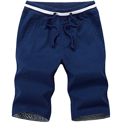 6分丈 ファッション ハーフパンツ メンズ ショートパンツミディアムパンツ 短パン男性パンツ XL,ネイビー