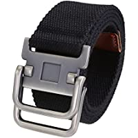 Ayliss Sturdy D-Ring Buckle Thicken Canvas Belt Casual Waistband