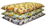 長座布団カバー 綿100%マーブル サイズ60x110cm日本製 オレンジ