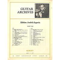 [冊子][楽譜]GUITAR ARCHIVES Andres Segovia No.121 Carlos Pedrell GUITARREO アンドレス・セゴビア
