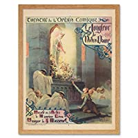 Massenet Juggler Notre Dame Theatre Opera Advert Art Print Framed Poster Wall Decor 12x16 inch 劇場オペラ広告ポスター壁デコ
