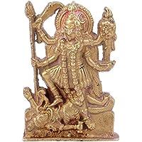 IndianShelfハンドメイドカーリーMaa真鍮Statue Figurines sba-268
