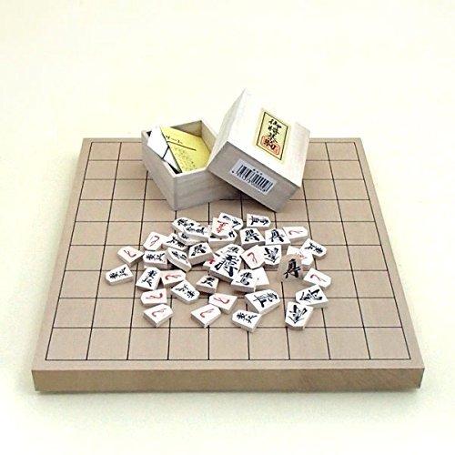 新桂1寸卓上接合将棋盤と木製優良押駒桐箱入り