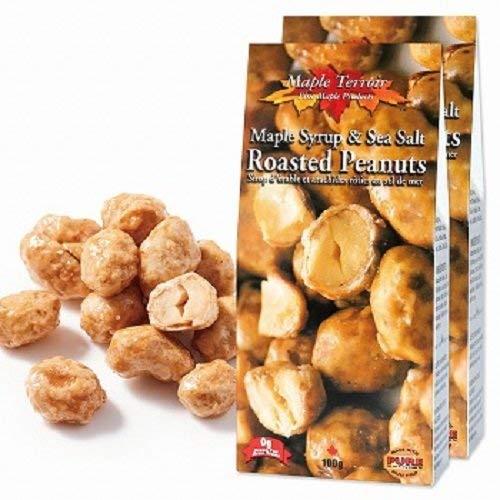 メープル&シーソルトピーナッツ 2箱セット【カナダ 海外土産 輸入食品 スナック ナッツ 】