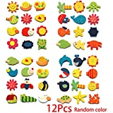 12PCS Animal Cartoon Wooden Refrigerator Fridge Magnet Sticker Kid Children Educational Development Toys Kakiyi
