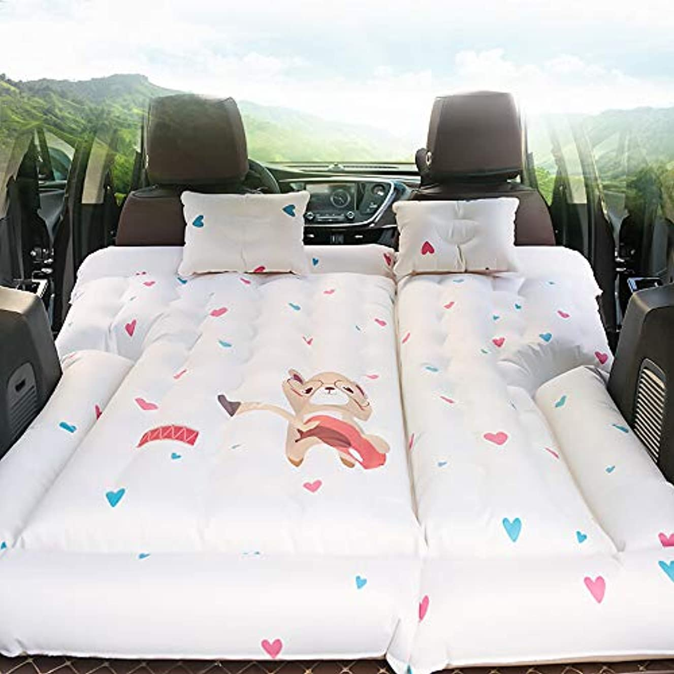 配送巨大なあなたのもの旅行のための2つの空気枕空気ポンプが付いている多機能膨脹可能な車のマットレスの空気ベッドのクッション