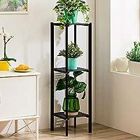 木製フラワースタンド、床置き立て屋外植物ポットディスプレイシェルフは、家族や庭園の恋人、3話に適しています (色 : D)