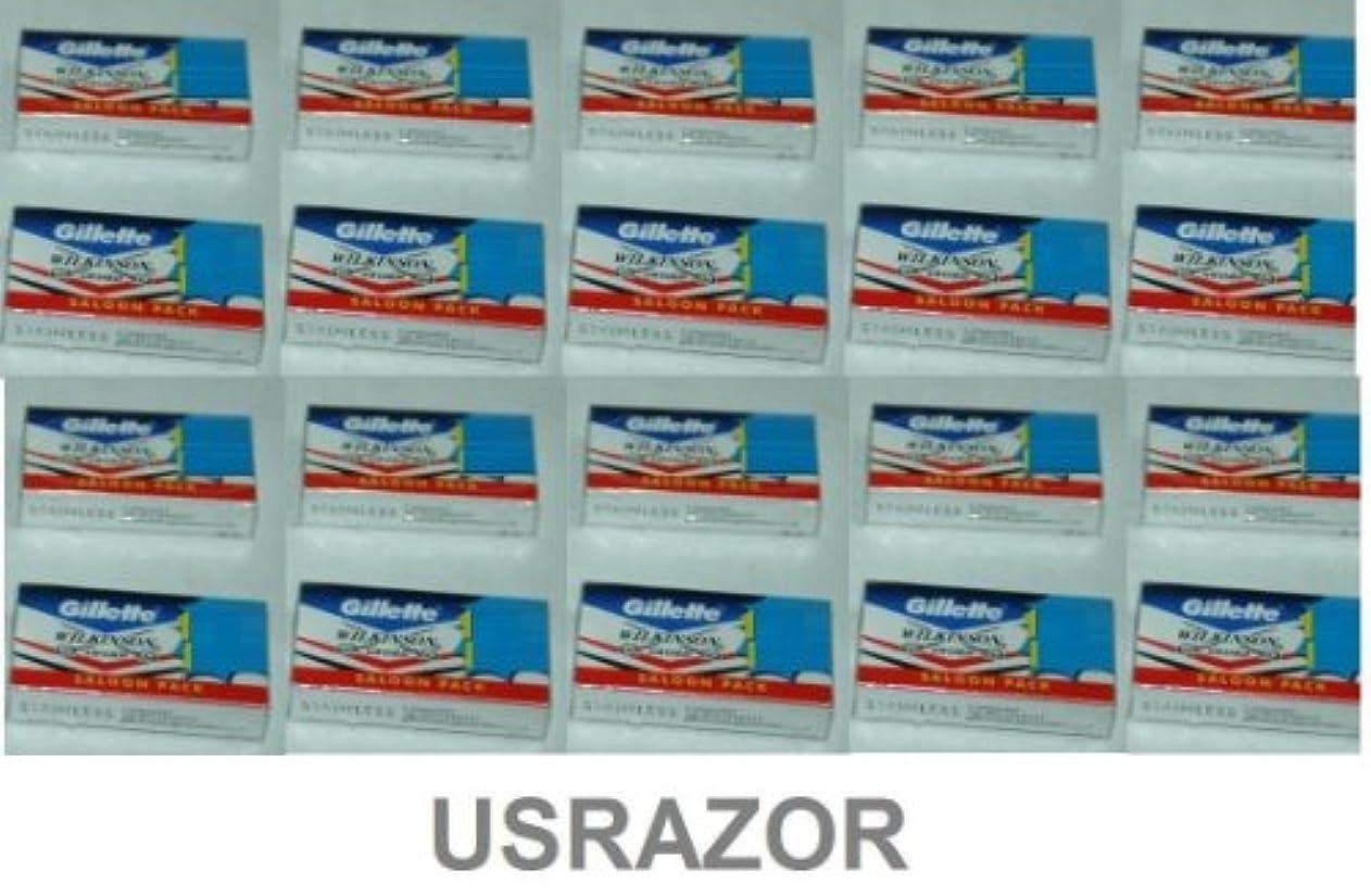 マラソン環境保護主義者物理200 Gillette Double Edge Safety Razor Blades Classic 2 Side 10*20 - 並行輸入品 - 200ジレットダブルエッジセーフティカミソリブレードクラシック2サイド...