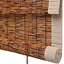 CAIJUN 葦カーテン 竹ブラインド 竹 ールカーテン日焼け止め 光フィルタリング 換気 縫製エッジ 丈夫な デコレーション カスタムサイズ (Color : A, Size : 120x220cm)