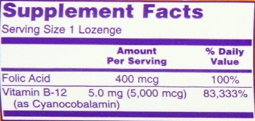 [海外直送品] NOW Foods ビタミンB-12 5000mcg 60粒 葉酸+ビタミンB12