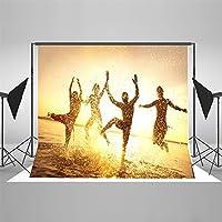 写真の背景 2x3m キラキラサンシャインオーシャン写真の背景卒業夏休みフォトブース小品