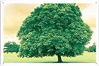 グリーンツリーのティンサイン 金属看板 ポスター / Tin Sign Metal Poster of Green Tree