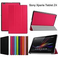 windykids Xperia Z4 tablet ケース SO-05G/SOT31 SGP712JP カバー ローズレッド 3点セット 保護フィルム タッチペン スタンドケース