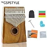 GSPSTYLE,カリンバ 17キー 親指ピアノ kalimba【相思樹・高品質】 手作り アフリカ民族楽器 上質なカリンバ 残響のある豊かな音 メーカー直販 セット