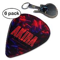 Akira アキラ ギターピック 6枚セット それぞれ厚さ エレクトリック、アコースティック、バスギター向け ライト(薄型)/ ミディアム/ヘビー/エクストラヘビー Guitar Pick
