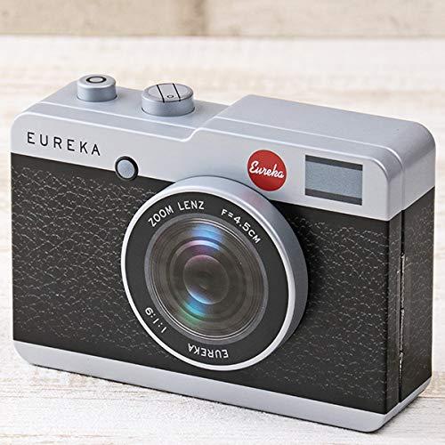 レトロなカメラ缶 チョコレート 黒 【バレンタイン限定・数量限定】ショッパーズバック付き