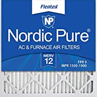 (14x14x1) - Nordic Pure 14x14x1M12-6 MERV 12 Pleated Air Condition Furnace Filter, Box of 6
