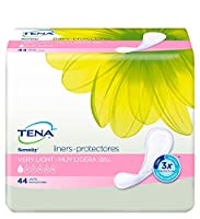 TENA Incontinence Liners for Women, Very Light, Long, 44 Count by TENA