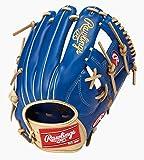 ローリングス(Rawlings) 野球用 軟式用 HYPER TECH COLOR GOLD ハイパーテック カラーゴールド[内野手用]11.25インチ GRXFHTCN62 ロイヤル/キャメル 右投用