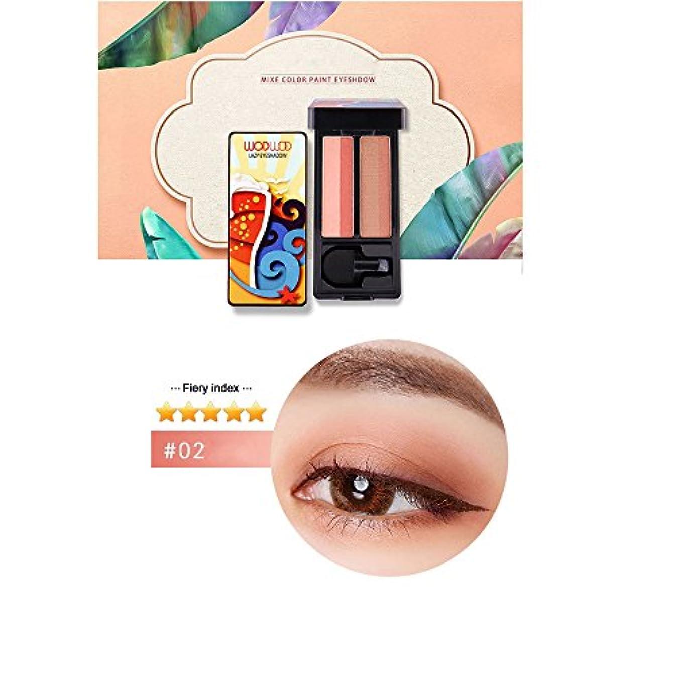 花嫁境界救出Akane アイシャドウパレット WODWOD 超人気 可愛い 魅力的 チャーム 防水 使いやすい 長持ち おしゃれ 持ち便利 Eye Shadow (2色) W711