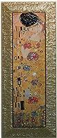 イタリア製 JHAアンティークフレーム 世界の名画 (プレミアム)クリムト キス KISS(接吻)(ガラスなし)W425×H1075 II-68-1 額絵 絵画