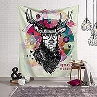 ヘラジカシリーズ動物レジャータペストリー装飾的なタペストリーリビングルームの寝室の装飾布の壁の装飾用品多機能ホーム150 * 130 Cm (Style : 7)