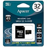 Apacer アペイサー AP32GMCSH10U1-J microSDHC UHS-I Class10 32GB 日本アペイサー国内3年保証品
