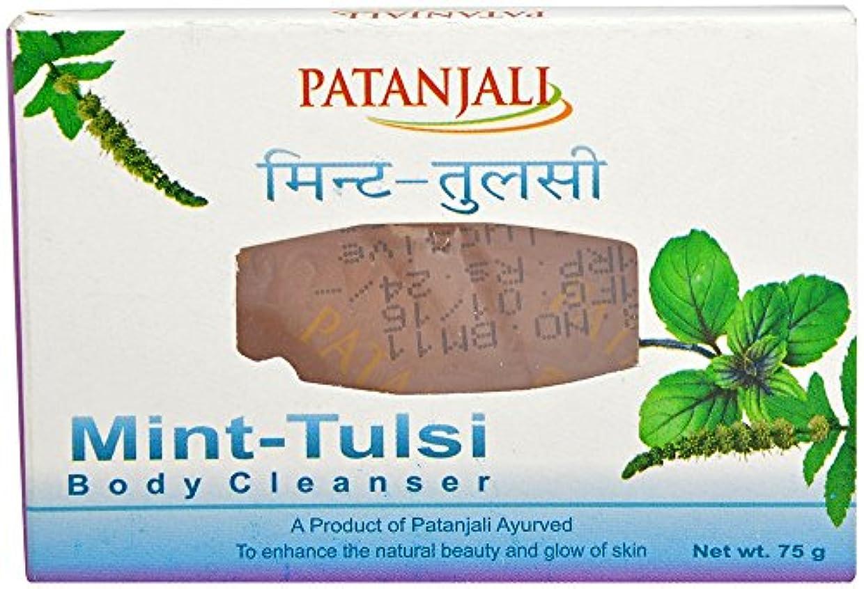 ルートまばたき蒸パタンジャリ ミント?ホーリーバジルソープ 75g×2個 アーユルヴェーダ インド産 Mint Tulsi Body Cleanser Ayurveda Patanjali India