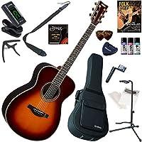 YAMAHA アコースティックギター 初心者 入門 ギターの生音にリバーブ、コーラスをかけられるトランスアコースティックギター セット内容をグレードアップした15点セット LS-TA/BS(ブラウンサンバースト)