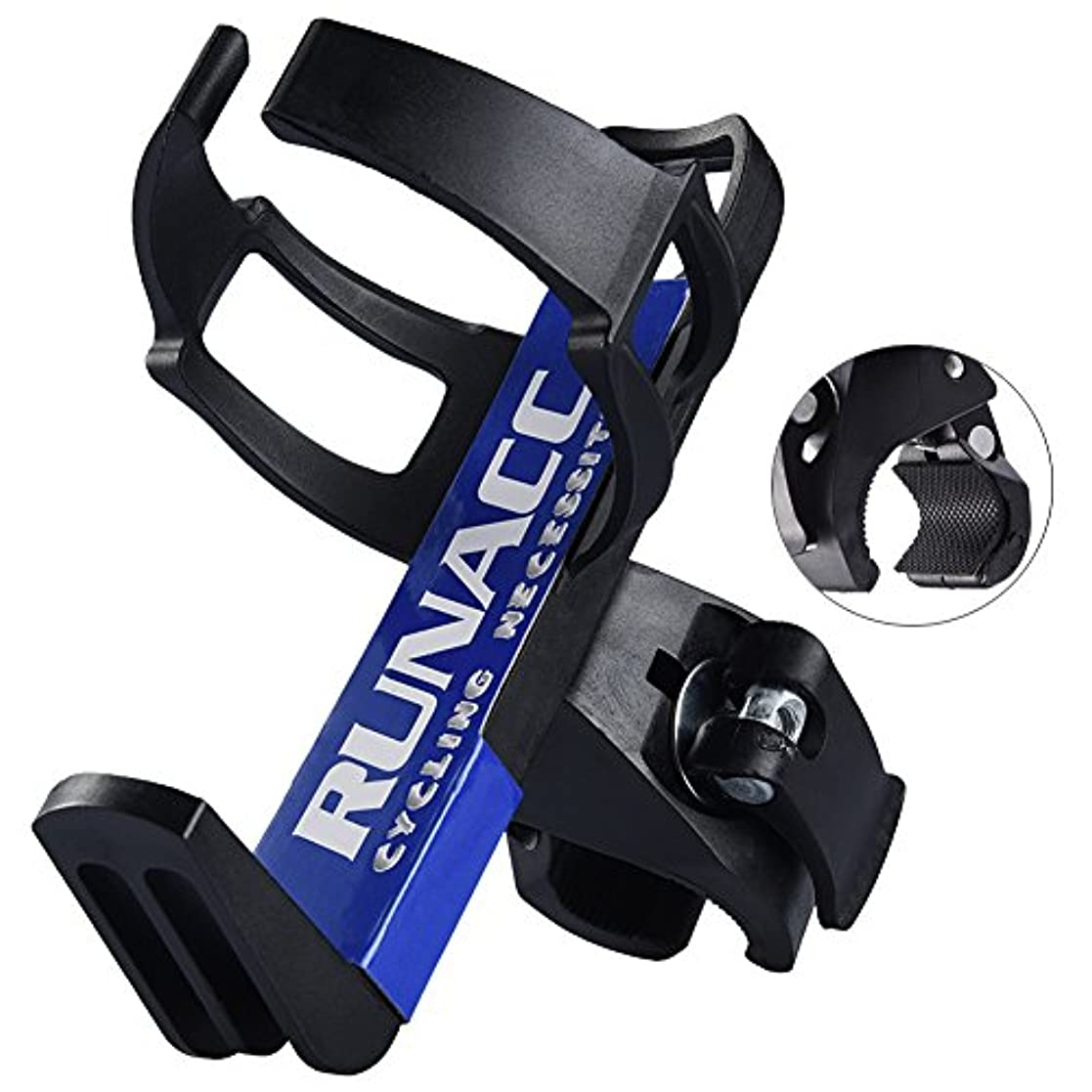 自分のあらゆる種類の最少Runacc サイクルボトルケージ 自転車用ボトルホルダー ドリンクホルダー クランプ式 調整可能 ブラック