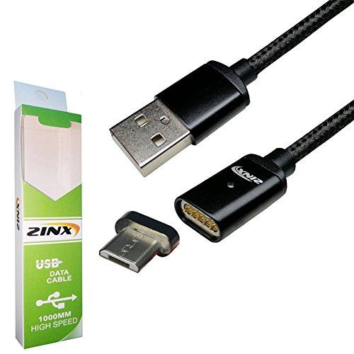 MicroUSB マグネット式充電ケーブル 120cm 磁石 防塵 スマホ タブレットデータ通信