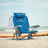 Tommy Bahama Beach Chair 2020 Backpack Cooler Chair with Storage Pouch and Towel Bar (Beach Chair - Blue)