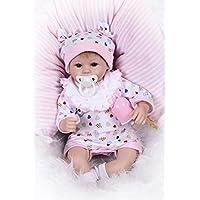 NPK collection Lovely 17インチ42 cm Life Like Realistic Lookingソフトシリコンビニールベビーガール人形Reborn DollsコットンStuffedボディ磁気口フリーダミー