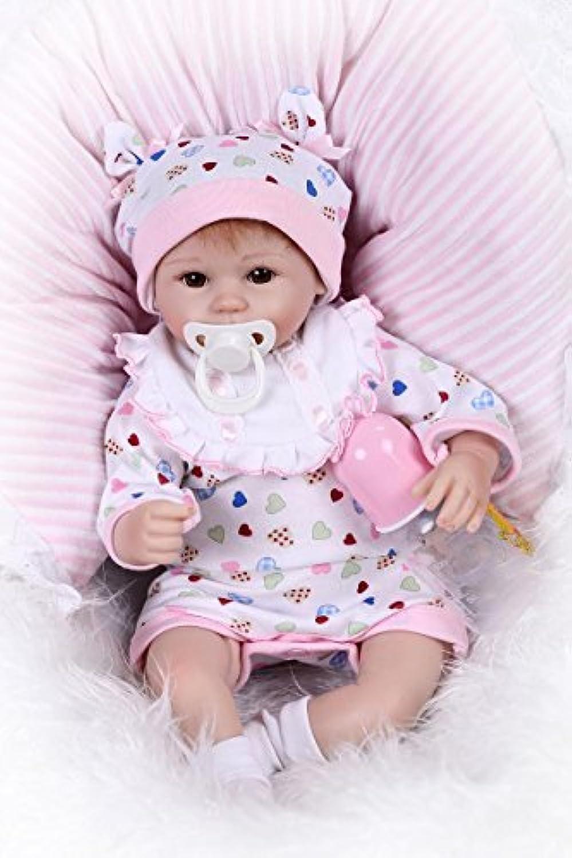 NPK 17インチシリコンRealistic Lifelike人形Rebornベビー人形ソフトビニール新生児磁気おしゃぶり