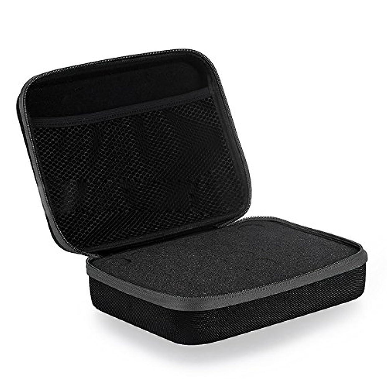 完全に乾く誤同情Farlong アロマポーチ エッセンシャルオイル ケース 携帯用 アロマケース メイクポーチ 精油ケース 大容量 アロマセラピストポーチ 30本用 4色おしゃれ (ブラック)