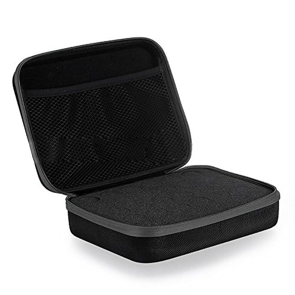 適応的手足費用Farlong アロマポーチ エッセンシャルオイル ケース 携帯用 アロマケース メイクポーチ 精油ケース 大容量 アロマセラピストポーチ 30本用 4色おしゃれ (ブラック)