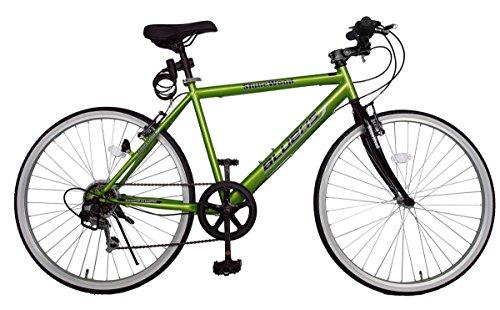 SHINEWOODⅣ(シャインウッド) 自転車 26インチ クロスバイク 軽量 シマノ6段変速 自転車 マウンテンバイク シマノ シティサイクル 男性 女性 通勤 通学 ライト鍵付き (MS) (プレミアムグリーン)