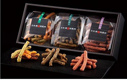 かりんとう 日本橋錦豊琳 レギュラー商品3種類(きんぴらごぼう、野菜、むらさきいも)